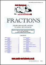 math fraction worksheets